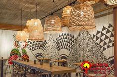 Đèn mây tre đan trang trí nhà cửa, nhà hàng, quán cafe với đủ loại kiểu dáng khác nhau đơn giản đẹp, hãy liên hệ +84979 083 286 / 0948 914 229 (Call/Viber/WhatApps),www.denlongxua.com; denlongxua@gmail.com #đènlồngxưa #đènmâytre #bamboolamp #đènmâytretrangtrí #vietnam #hoian #lanterns #socialmedia #lamp #pinterest #mâytređan #beauty Restaurant Chairs, Restaurant Design, Hannah Collins, Weekend In San Francisco, Rattan Pendant Light, San Francisco Design, Painted Wood Walls, Wood Siding, Jpg