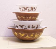vintage early american pyrex