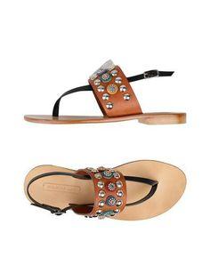 NANNI Women's Toe strap sandal Brown 6 US