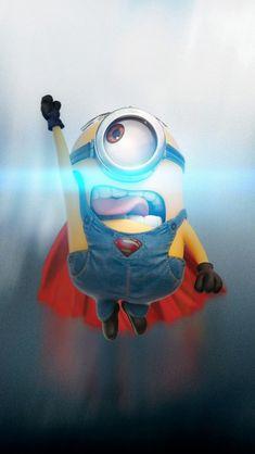 Funny Minion Superman iPhone 5 Wallpaper