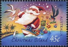 ◙ Australian Christmas Postage Stamp (remember their Christmas is in the middle of Summer). ◙