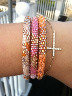 Lily and Laura bracelets... cute and for a good cause! All they want right now.....