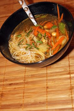 Spicy Chickpea Noodle Soup