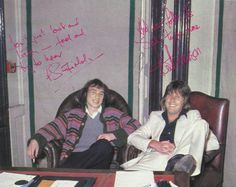 Pete Sinfield & Keith Emerson 1976