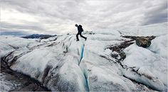 The #Matanuska Glacier is part of an accessible wilderness area about 100 miles from #Anchorage, #Alaska.  - NYTimes.com