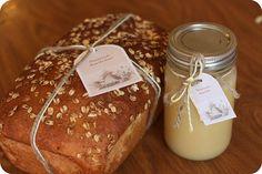 Homemade Honey Butter Recipe with Honey Oat Bread. Dreamy...