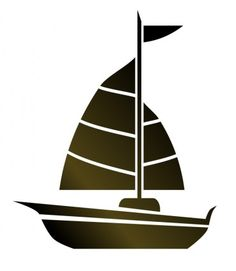 vector simple cartoon sailboat icon stock illustration royalty rh pinterest com yacht clipart images yacht clipart