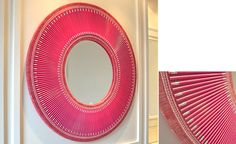DIY - Sunburst mirror made with colored PENCILS! Brilliant!