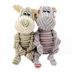 Whitelotous 492  1299 Striped Donkey Pet Plush Toy Dog Squeaky Toy Molars Color in Random -- Click image for more details. (Note:Amazon affiliate link)