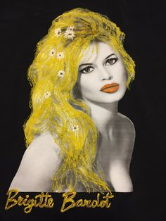 Brigitte Bardot T shirt Painted Artistic BB T-shirt