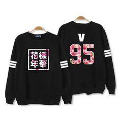 Kpop BTS In Bloom pt2 Album Sweater black Bangtan Boys Hoodies Unisex Merchandise