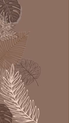 Neutral Wallpaper, Minimal Wallpaper, Aesthetic Desktop Wallpaper, Iphone Minimalist Wallpaper, Leaves Wallpaper Iphone, Wallpaper Backgrounds, Simple Wallpapers, Pretty Wallpapers, Cute Patterns Wallpaper