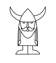 how to draw a simple viking