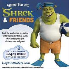 #Shrek & Friends this #summer only at Gaylord Hotels!