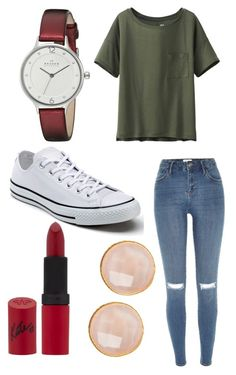 """School"" by margot-52 ❤ liked on Polyvore featuring River Island, Uniqlo, Skagen, Converse, Rimmel and Saachi"