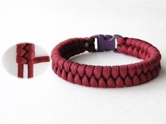 How to Make an Easy Single Working Strand Fishtail Paracord Survival Bracelet - YouTube