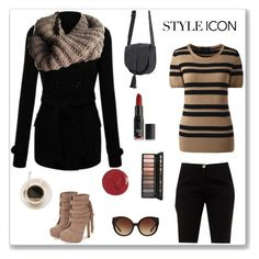 Style Icon Taupe by knitsbynat on Polyvore featuring Lands' End, Ted Baker, JustFab, Knits By Nat and Michael Kors