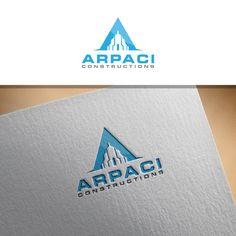 Arpaci constructions logo Serious, Modern Logo Design by sushsharma99