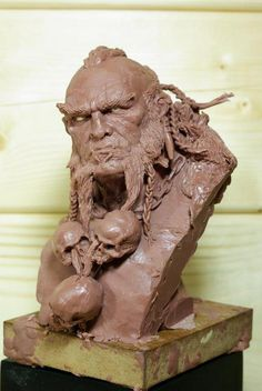 Sculpture by Cyril Roquelaine based on art from Adrian Smith