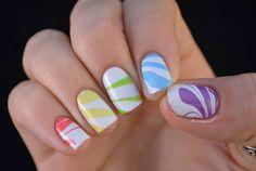 Taste This Rainbow - water marble nails nailed-it-nails-and-nail-art Sexy Nails, Fancy Nails, Love Nails, How To Do Nails, Pretty Nails, Marble Nail Designs, Nail Polish Designs, Water Marble Nails, Nail Art Blog