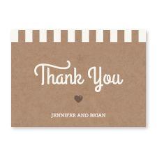 rose gold foil pocket  - thank you cards