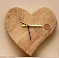 Hand Crafted Valentine Wooden Clock