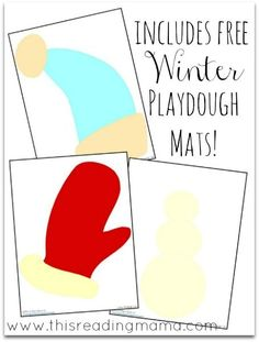Open-Ended Christmas and Winter Playdough Mats | This Reading Mama