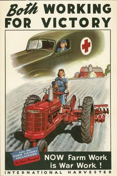 overalls, tractor.  wwii