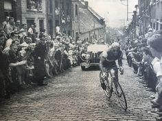 Tour de France 1957. 5^Tappa, 1 luglio. Roubaix > Charleroi. Gilbert Bauvin (1927) vincitore di giornata