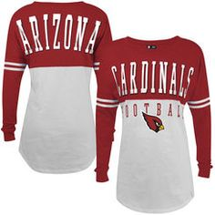 Women's 5th & Ocean by New Era Cardinal/White Arizona Cardinals Baby Jersey Spirit Long Sleeve T-Shirt $43.95 #AZCardinals #NFLStyle