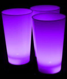 Glow LED Cup - 16 oz. Purple - Glow Sticks, Glow Necklaces, Glow Bracelets, Wholesale Cheap Glow Sticks
