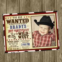 Cowboy Birthday Party Invitation  Photo by shelleyspaperstudio, $15.00