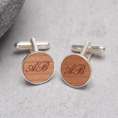 personalised initial cufflinks by maria allen boutique   notonthehighstreet.com
