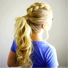 Cool ponytail hairstyle for parties  #hairstyle #parties #ponytail