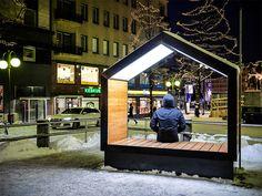 mokša street furniture installed in lahti, finland