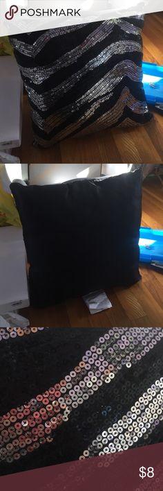 Sequin throw pillow Zebra print sequin throw pillow Other