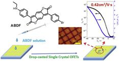 Solution processed air-stable p-channel organic crystal field-effect transistors of Aminobenzodifuranone https://doi.org/10.1016/j.dyepig.2017.12.052