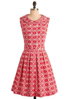 Sugar and Spice Make Everything Nice Red-y for Tea Dress  #modcloth #styleserving