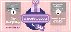 #promocja #metryczka #prezent #upust #madrearte