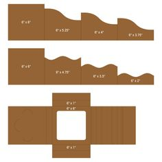 "6""x 6"" Foldout Cards-Kraft"