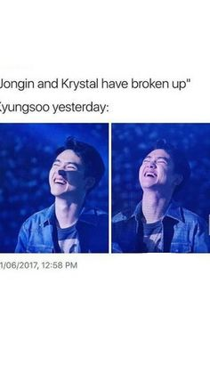 I CAN'T STOP LAUGH XD of Kyungsoo, uh.