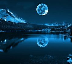 A Blue Moon the moon is actually that close to you in Montana its unreal