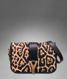 f0a59c17b3a YSL Chyc Medium Shoulder Bag in Natural Leopard Printed Calfskin Leather  Handbags, Women s Handbags,