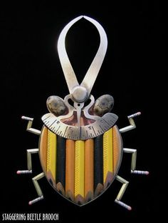 staggering beetle brooch, Lisa and Scott Cylinder