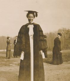 Mary Benedict, Sweet Briar College's first President  and Professor of Philosophy and Psychology from 1906-1916. Photographed at Commencement in 1913.  Sweet Briar College, some rights reserved. CC-BY-NC.