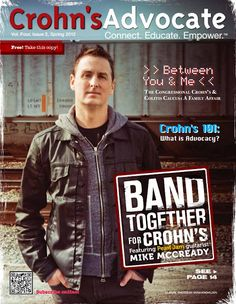 Mike McCready Cover of Crohn's Advocate magazine (Spring 2012)