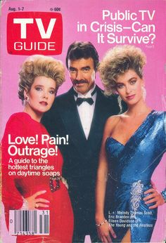 Melody Thomas Scott, Eric Braeden, and Eileen Davidson (The Young and the Restless) on the cover of TV Guide - August 1, 1987