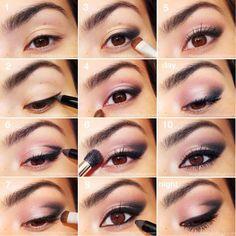 14 Pretty Pink Smokey Eye Make Up Looks # up Eye Makeup Glitter, Pink Eye Makeup, Eye Makeup Tips, Cute Makeup, Simple Makeup, Skin Makeup, Easy Makeup, Makeup Contouring, Glossy Makeup