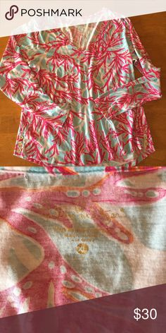 Lilly Pulitzer tee XL like new Lilly Pulitzer Tops Tees - Long Sleeve