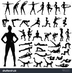 Find Big Set Black Vector Silhouettes Slim stock images in HD and millions of other royalty-free stock photos, illustrations and vectors in the Shutterstock collection. Cute Icons, Free Stock Photos, Royalty Free Images, Healthy Life, Positivity, Slim, Image Vector, Sports, Christmas Design